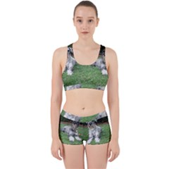 2 Standard Schnauzers Work It Out Sports Bra Set
