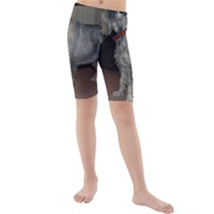 Standard Schnauzer Full Kids  Mid Length Swim Shorts
