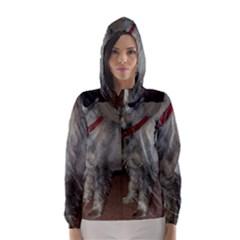 Standard Schnauzer Full Hooded Wind Breaker (women)