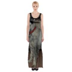 Standard Schnauzer Full Maxi Thigh Split Dress