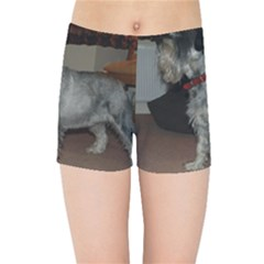 Standard Schnauzer Full Kids Sports Shorts