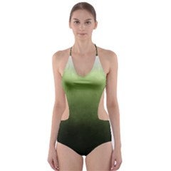 Ombre Cut Out One Piece Swimsuit