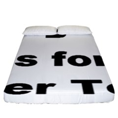 B Is For Border Terrier Fitted Sheet (king Size)
