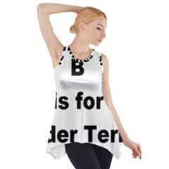 B Is For Border Terrier Side Drop Tank Tunic