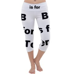 B Is For Border Terrier Capri Yoga Leggings