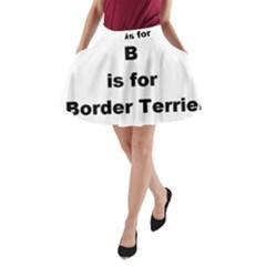 B Is For Border Terrier A Line Pocket Skirt