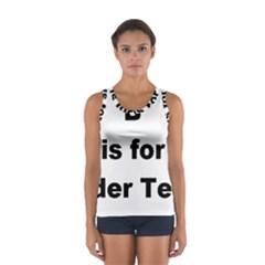 B Is For Border Terrier Sport Tank Top