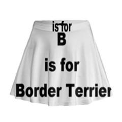 B Is For Border Terrier Mini Flare Skirt