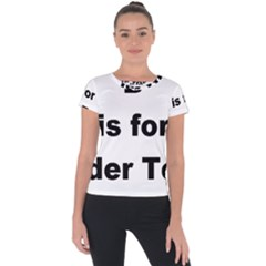 B Is For Border Terrier Short Sleeve Sports Top