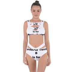 B Is For Border Terrier Bandaged Up Bikini Set