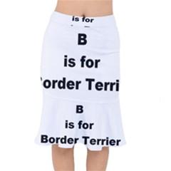B Is For Border Terrier Mermaid Skirt