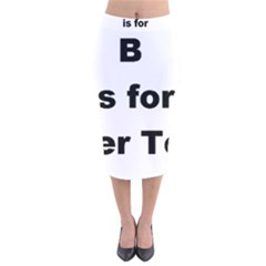 B Is For Border Terrier Velvet Midi Pencil Skirt