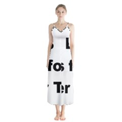 B Is For Border Terrier Button Up Chiffon Maxi Dress