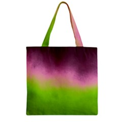 Ombre Zipper Grocery Tote Bag