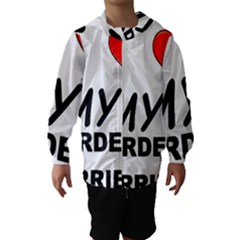 Border Terrier Love Hooded Wind Breaker (kids)
