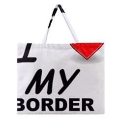 Border Terrier Love Zipper Large Tote Bag
