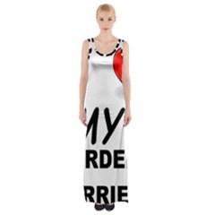 Border Terrier Love Maxi Thigh Split Dress