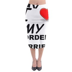Border Terrier Love Midi Pencil Skirt