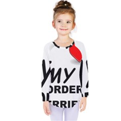 Border Terrier Love Kids  Long Sleeve Tee