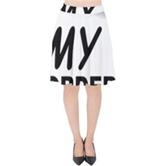Border Terrier Love Velvet High Waist Skirt