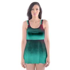 Ombre Skater Dress Swimsuit