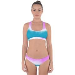 Ombre Cross Back Hipster Bikini Set