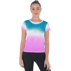 Ombre Short Sleeve Sports Top