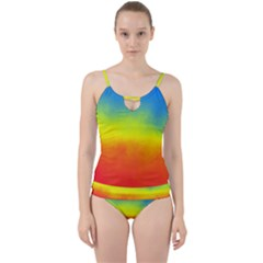 Ombre Cut Out Top Tankini Set