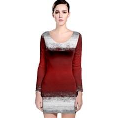 Ombre Long Sleeve Velvet Bodycon Dress