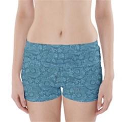 Floral Pattern Boyleg Bikini Wrap Bottoms