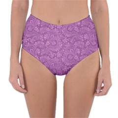 Floral Pattern Reversible High Waist Bikini Bottoms