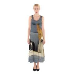 2 Basenjis Sleeveless Maxi Dress