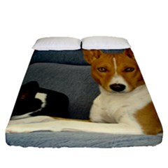 2 Basenjis Fitted Sheet (queen Size)