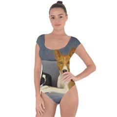 2 Basenjis Short Sleeve Leotard