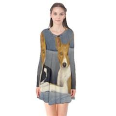 2 Basenjis Flare Dress