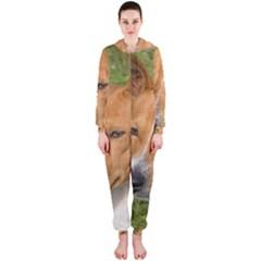 Basenji 2 Hooded Jumpsuit (ladies)