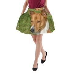 Basenji 2 A Line Pocket Skirt