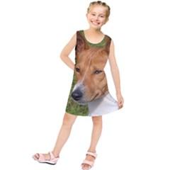 Basenji 2 Kids  Tunic Dress