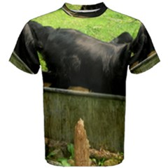 2 Full Flat Coated Retriever Men s Cotton Tee