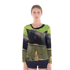 2 Full Flat Coated Retriever Women s Long Sleeve Tee