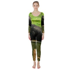 2 Full Flat Coated Retriever Long Sleeve Catsuit