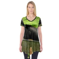 2 Full Flat Coated Retriever Short Sleeve Tunic