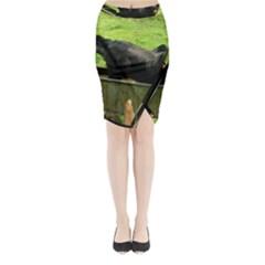 2 Full Flat Coated Retriever Midi Wrap Pencil Skirt