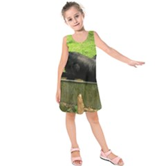 2 Full Flat Coated Retriever Kids  Sleeveless Dress