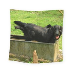 2 Full Flat Coated Retriever Square Tapestry (small)