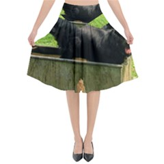 2 Full Flat Coated Retriever Flared Midi Skirt