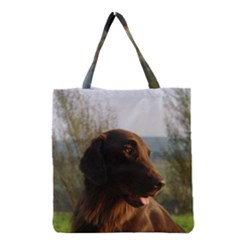 Flat Coated Retriever Grocery Tote Bag