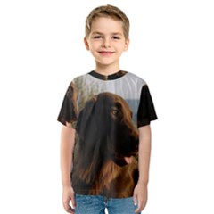 Flat Coated Retriever Kids  Sport Mesh Tee