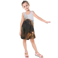 Flat Coated Retriever Kids  Sleeveless Dress