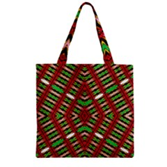 Only One Zipper Grocery Tote Bag